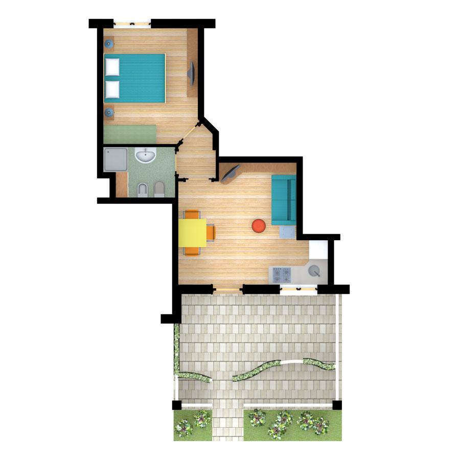 Complesso residenziale san vito in vendita cazzorla for Software di piano terra residenziale